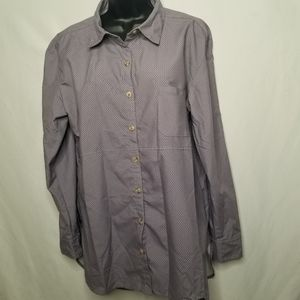 The North Face hi low button up lightweight shirt